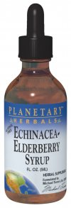Planetary Herbals Echinacea-Elderberry Syrup is a winter health supplement.