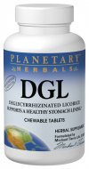 Licorice DGL Deglycyrrhizinated Chewable Tablets  promotes a healthy stomach lining and supports healthy intestinal flora..