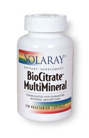 BioCitrate MultiMineral by Solaray is formulated for enhanced mineral absorption. This specially blended formula of vitamins and minerals works to promote overall health and wellness by supporting nutritional absorption in the body..