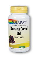 Useful in treating a malady of conditions, Solaray Borage Seed Oil contains high levels of gamma linolenic acid (GLA) and is helpful for alleviating pain due to rheumatoid arthritis, as well in treating skin conditions..