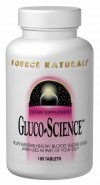 Source Naturals Gluco-Science can be used as part of your diet to help maintain healthy blood sugar levels.  Alpha-lipoic acid, chromium and other ingredients support the mediation of insulin and activity..