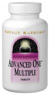 Advanced One includes special ingredients such as the 'core four' - N-acetyl cysteine, lipoic acid, silymarin and coenzyme Q10- for nutrient activation, anti-aging antioxidant protection and nonstimulant energizing. The expert formulators at Source Naturals designed Advanced One to combine high levels of vitamins and minerals with protective  nutraceuticals, based on the latest scientific research. Advanced One is the first multiple to combine the convenience of a once-a-day with formulation that reflects the advancements in nutritional science..