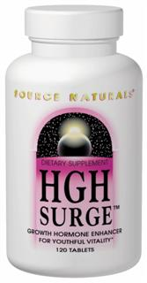 Source Naturals HGH Surge is a multifaceted, Bio-Aligned approach to the promotion of healthy levels of natural human growth hormone. HGH Surge contains nutritional and neurotransmitter support shown to stimulate the body's production and release of human growth hormone..