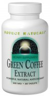 Source Naturals Green Coffee Extract (GCA) is a powerful antioxidant that helps protect against oxidative stress caused by free radicals-a major cause of accelerated aging. Derived from raw, unroasted coffee beans and naturally low in caffeine, green coffee extract has been shown in research to support normal cellular regeneration and growth. Green coffee extract is high in chlorogenic and caffeic acid, two primary compounds responsible for the activity of green coffee..