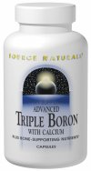 Advanced Triple Boron With Calcium is a well-balanced formula for bone health. It contains 3 bioavailable forms of the trace mineral boron, which supports the prevention of calcium loss and bone demineralization, plus calcium to promote bone strength. Advanced Triple Boron with Calcium features eight other essential vitamins and minerals including magnesium and vitamin D to support bone mineral density..