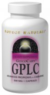 Source Naturals GPLC (Glycine Propionyl-l-Carnitine) fuels the bodys energy-producing ability at the cellular level. As we age, our cells mitochondria lose the ability to burn dietary fats for energy. GPLCs propionyl component helps maintain mitochondrial function and combined with the amino acid glycine further supports energy production compared to basic forms of carnitine. Studies show that it has support for overall heart health and for physical energy and stamina. <br> GlycoCarn, USP is a registered trademark of Stigma-tau HealthScience, Inc. and is a manufactured under USA patent 6,703,042 and other foreign patents..