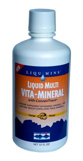 Dietary supplement formulated for the nutritional needs of active men and women. More than just a multi-vitamin, Liquid Multi Vita-Mineral is enhanced with calcium, antioxidant vitamins, B-complex vitamins, and ionic trace minerals..