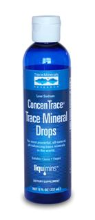90% of Americans suffer mineral imbalance or deficiency causing your body to misfire so you feel rundown and tired.Soluble, all-natural complex of over 72 ionic trace minerals and elements extracted from the Great Salt Lake in Utah. The ionic minerals in ConcenTrace also have the power to maintain and even improve the pH balance in your body..