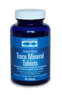 The tablet form of our world renowned liquid trace mineral drops, synergized with alfalfa and kelp is a vegetarian, gluten free formula. Non-GMO Trace Mineral tabs add energy throughout the body..