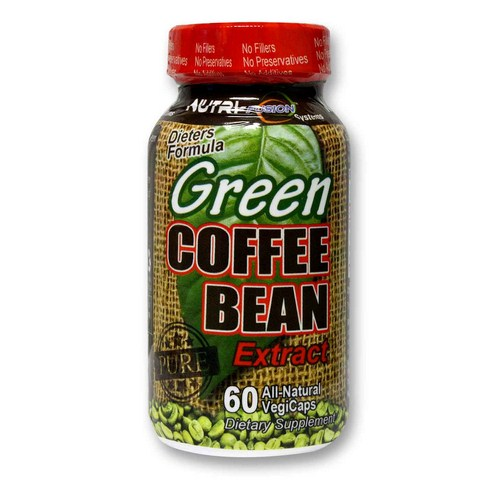 800mg of Pure Unroasted Green Coffee Bean Extract in a Vegetarian Capsule.  No Fillers. No Preservatives. No Additives. Green coffee beans contain a special component called chlorogenic acid, which has been shown to inhibit the release of glucose while at the same time boosting metabolism. This synergy helps your body inhibit fat absorption..