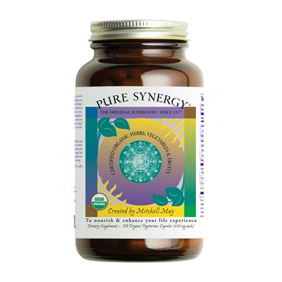 Nourish and enhance your life experience. Pure Synergy is made from certified organic herbs, vegetables and fruits. Premium superfood powder..