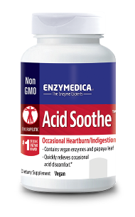 Enzymedica uses an exclusive Thera-blend process for its protease, lipase, amylase and cellulase. Each of these enzymes actually represents multiple strains that are blended to increase potency in varying pH levels..