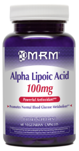 ALA from MRM helps aid your blood glucose and is a powerful antioxidant..