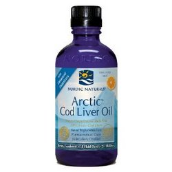 Purified Arctic Cod Liver Oil 16oz. 100% Arctic Cod Liver Oil 8 oz Orange Flavor | Nordic Naturals | Non-GMO. Perfect for those who don't like to swallow pills..