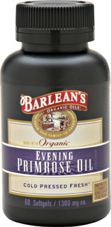 Barlean's Organic Evening Primrose Oil is revered for providing relief from symptoms associated with PMS and menopause such as  hot flashes, breast tenderness, cramps, and moodiness..