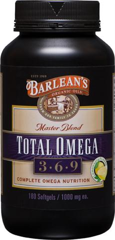 Total Omega master blend combines of the 'best of the Barlean's'  our renowned 100% Organic Flaxseed oil, Fresh Catch Fish Oil, and Pure Borage Seed oil  for a truly superior and complete omega 3, 6, 9 nutrition source. Non-GMO and Gluten Free.