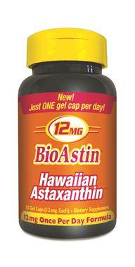 Many health professionals regard Hawaiian Astaxanthin as an important component to a successful daily health program. 12 mg per day is the recommended daily dose for active people who participate in hard physical work or exercise. Powerful Antioxidant..