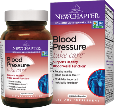 New Chapter Blood Pressure Take Care is a special blend of herbs and nutrients promoting healthy blood pressure levels and cardiovascular function..