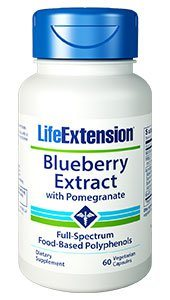 Blueberry Extract with Pomegranate (60 vegetarian capsules) Potent antioxidant that helps reverse damage done by toxins and free radicals and help your body defend itself against dangerous pathogens..