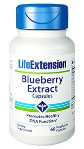 Blueberry Extract (60 vegetarian capsules) Has significant benefits for your cardiovascular system and is also helpful in preventing neurological disorders..