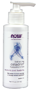 NOW Celadrin Lotion can help support joint and cartilage response to physical activity, exercise and postural stability..
