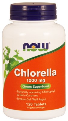 Green Superfood. Now Foods Chlorella supplies high levels of Beta-Carotene, Vitamin B-12, Iron, RNA, DNA and protein..