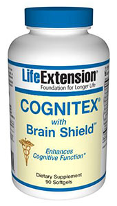 Cognitex with Brain Shield by Life Extension is an advanced formula providing the brain boosting nutrients demonstrated by science to enhance cognitive and preserve memory functions of the brain..