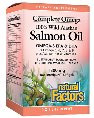 Natural Factors Wild Alaskan Salmon Oil  Mg Softgels