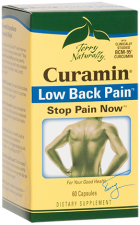 Curamin Lower Back Pain is formulated with the award winning BCM-95 curamin for pain relief. Devils Claw is added to support healthy cartilage for comfort and mobility..