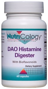 Do you suffer from histamine food intolerance? It is possible to enjoy food again. DAO delivers the patented clinically tested ingredient Diamine Oxidase (DAOsin) enhanced with Quercetin and Rutin. Try it and see if you notice a difference and put those no foods back on the yes list!.