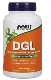 De-Glycyrrhizinated Licorice (DGL) Extract from NOW.