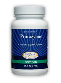 Protazyme employees proteolytic enzymes to supports healthy stomach acidity, for proper breakdown of protein in the stomach..