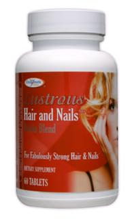 Potent blend of B vitamins, Niacin, Pantothenic Acid, Vitamin C, Zinc and Biotin naturally promote Lustrous Hair, Nails and Skin..