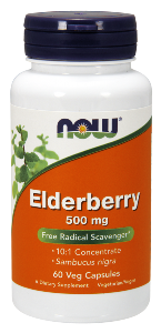 Elderberry (Sambucus nigra) provides both Vitamins A and C, as well as anthocyanins, which are potent free radical scavengers. Elderberry is well known for it's use in treating symptoms of colds and flu..
