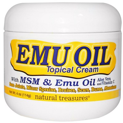 Emu Oil Topical Cream Plus MSM - Aloe Vera - Vitamin C.