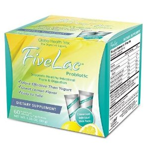 FiveLac is the culmination of many years of scientific research and is designed to provide beneficial intestinal micro-flora. FiveLac is composed of five live strains of good bacteria supporting superior digestion, immune health and relieving symptoms of gas, blaoting, acid reflux and more. Global Health Trax, the leaders in probiotic health..