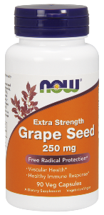 Now Grape Seed Extract is a highly concentrated natural extract containing a minimum of 90% Polyphenols, including OPC's (Oligomeric Proanthocyanidins), the beneficial antioxidant compounds found in Grape Seeds..