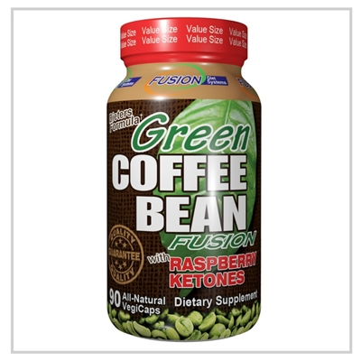 Green Coffee Bean extract standardized to 50% chlorogenic acid  blended with a concentrate of raspberry ketones supporting your healthy weight loss program..