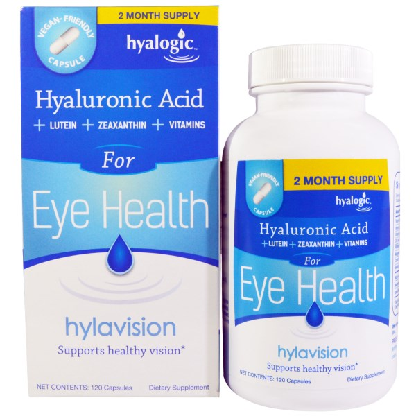 HylaVision by Hyalogic is nutritional support for eye health and proper vision..