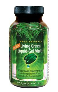 In todays world of low nutrition and high stress Mens Living Green Liquid-Gel Multi is formulated to support the unique nutritional needs of active men. This breakthrough formula combines over 117 nutrients and 72 trace minerals including Omega-3 Essential Fatty Acids. Excellent supplement with prostate support for men of all ages..