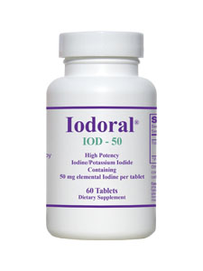Iodoral is the tablet form of Lugol Solution. IOD-50 supplies 50mg of high potency iodine/potassium iodide supplement..