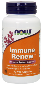 Immune Renew is a potent immune system supporting formulation containing Standardized Astragalus Extract and a High Beta-Glucan Proprietary Mushroom Blend..