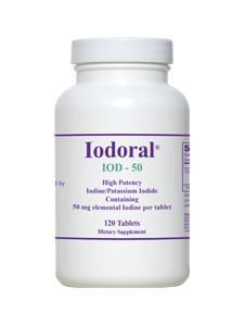 High Potency Iodine Tablets | Iodoral IOD-50 | Containing 50mg of Elemental Iodine per Tablet.