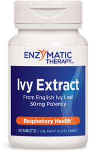 Ivy Leaf Extract benefits building and maintaining healthy lung and bronchial passageway function.