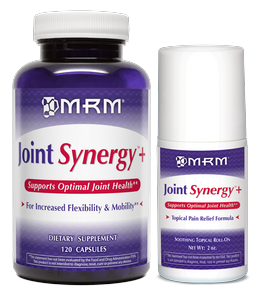 Joint Synergy capsules combined with Joint Synergy Topical Roll-On provide all natural effective pain relief throughout the body. This unique formula with botanical extracts not only provides joint comfort and pain relief but repairs surrounding joints and tissue for increased mobility..