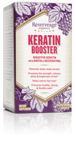 Scientific breakthrough creates the next generation in healthy hair, skin and nails nutrition. Keratin Booster with Biotin and Resveratrol utilizes the latest innovation in Beauty from Within supplementation. .