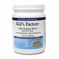 Natural Factors Learning Factors Daily Nutrient Boost pea protein is a smoothie mix  designed to lessen the effects of attention disorders..