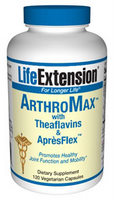 Life Extension ArthroMax with Theaflavins is a multi-nutrient formula specifically developed to provide holistic supplement support for aging joints and ligaments..