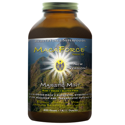 Sun Dried Maca plus Elemental Synergistics for Maximum and Therapeutic Potency. Raw, Vegan and Gluten Free..