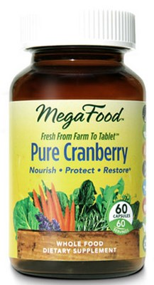 All the health benefits of Organic Cranberry without the sugar, Pure Cranberry by MegaFoods..